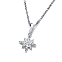 Silver and CZ Brilliant Star Pendant