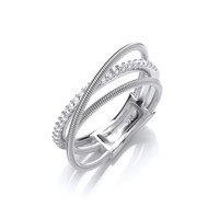 Silver and CZ Wrap Ring