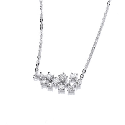 Silver and CZ Constellation Necklace