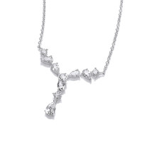 Silver and CZ Debutante Necklace