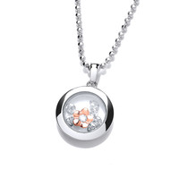 Celestial Rose Gold Mini Forget-Me-Not Pendant