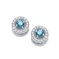 Twinkle Toes Blue Topaz Solitaire Earrings