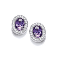 Timeless Elegance Amethyst Earrings