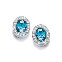 Timeless Elegance Blue Topaz Earrings