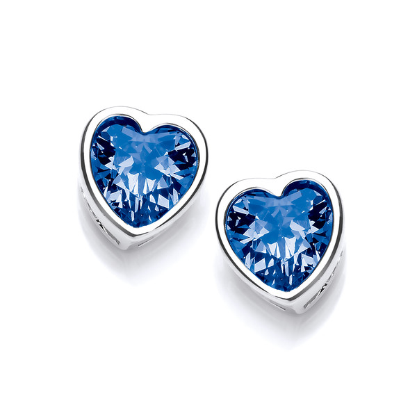 Take Heart Tanzanite Cubic Zirconia Stud Earrings