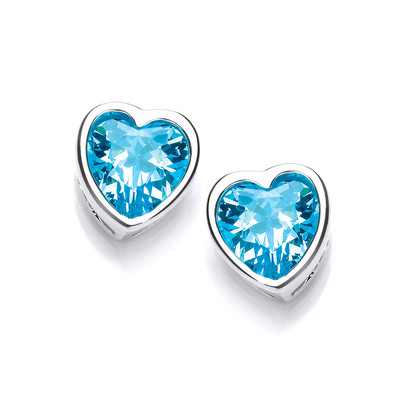 Take Heart Topaz Cubic Zirconia Stud Earrings