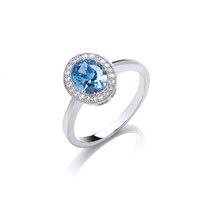 Timeless Elegance Blue Topaz Ring