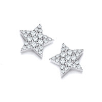 Silver and Cubic Zirconia Starry Night Earrings