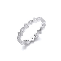 Silver and Cubic Zirconia Eternal Love Ring