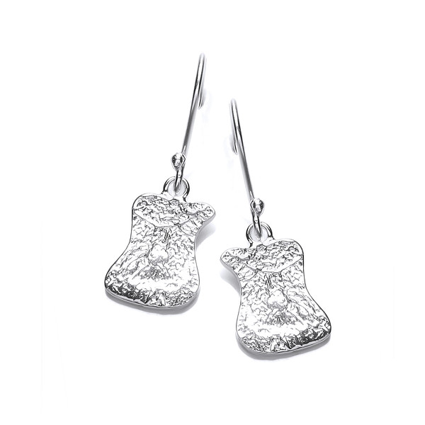 Silver Interlocking Drop Earrings