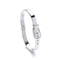 Medium Silver Buckle Bangle