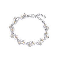 Silver Diddy Daisies Bracelet
