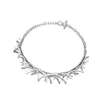 Silver Twigs Necklace