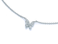 Delicate Silver and Cubic Zirconia Butterfly Necklace