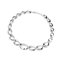 Silver Oval Loops Necklace