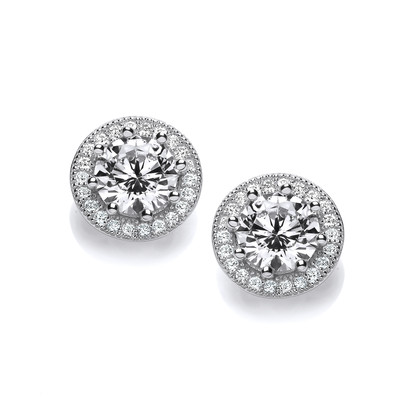 Diamond Style Solitaire Earrings