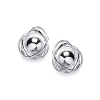 Silver Nested Ball Earrings