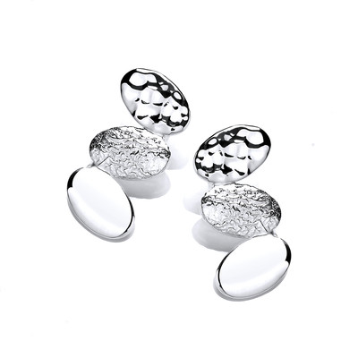 Diddy Silver Ovals Earrings