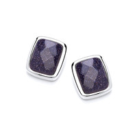 Little Squares of Blue Sandstone Earrings
