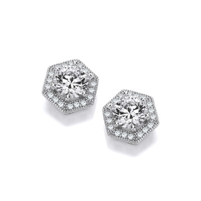 Art Deco Style Cubic Zirconia Earrings