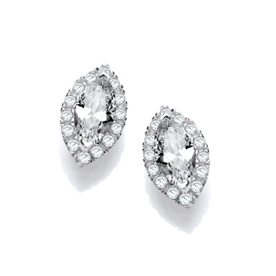 Marquise Cubic Zirconia Solitaire Earrings