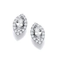 Marquise CZ Solitaire Earrings
