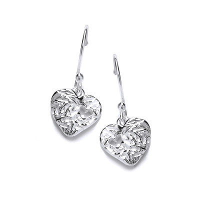 Heart to Heart Silver Earrings