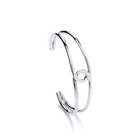 Sterling Silver Simple Loop Cuff Bangle