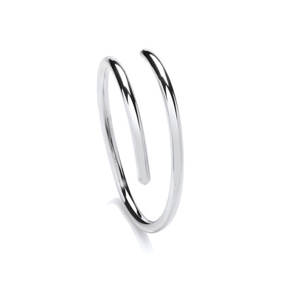 Sterling Silver Smooth Cleo Bangle