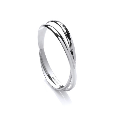 Sterling Silver Double Bangle