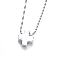 Sterling Silver Small Chunky Cross Pendant