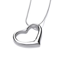 Sterling Silver Offset Heart Pendant
