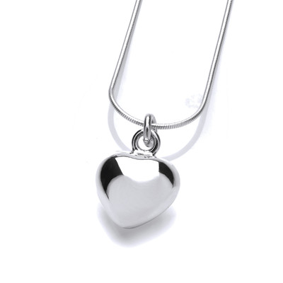 Sterling Silver Baby Puffed Heart Pendant without Chain