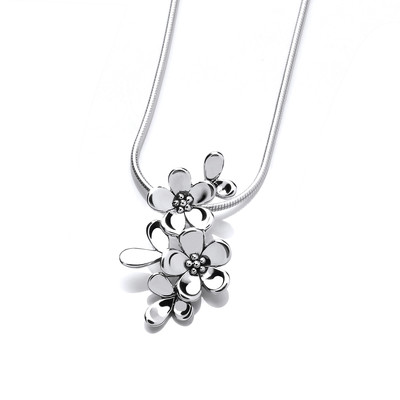 Tiny Sterling Silver Forget-Me-Not Pendant