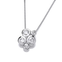 Sterling Silver Cubic Zirconia Bubble Cluster Pendant