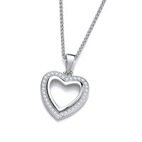 Open your Heart Silver and CZ Pendant
