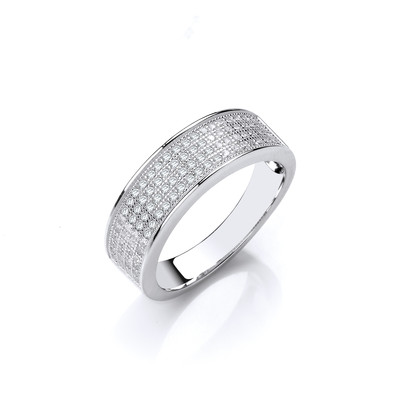 Sterling Silver CZ Wedding Band Style Ring