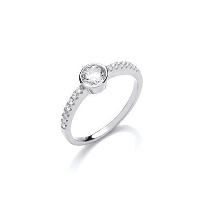 Sweet Sparkly Solitaire Ring