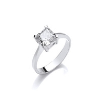 Simple Sparkle Solitaire Ring