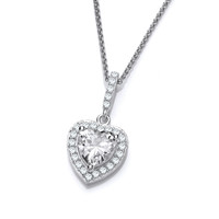 So Cute Mini CZ Drop Heart Pendant