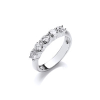 Silver and CZ 'Here to Eternity' Ring