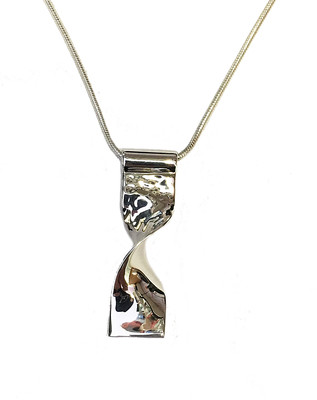 Twisted Silver Pendant without chain