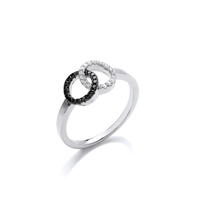 Silver and CZ Friendship Ring