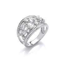 Silver and CZ's Galore Ring