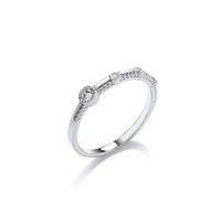 Fine Silver and CZ Studded Ring