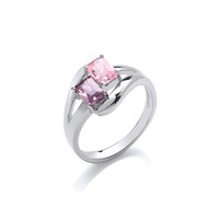 'Colour Me Beautiful' Twin CZ Ring