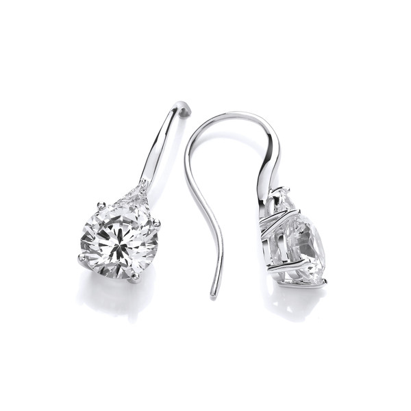 'Brilliant' Cubic Zirconia Drop Earrings