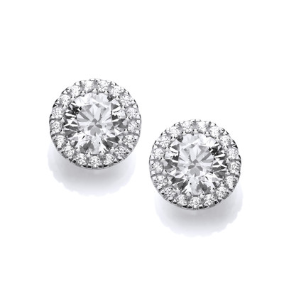 'Touch of Sparkle' Silver and Cubic Zirconia Earrings