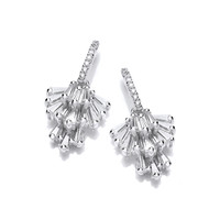 Silver and CZ Chandelier Drop Earrings