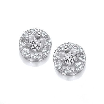 Dancing Cubic Zirconia Star Earrings